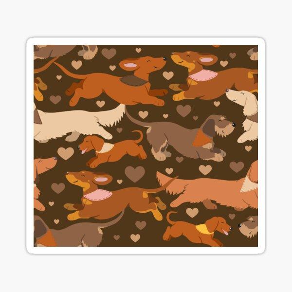 Dachshunds in brown Sticker