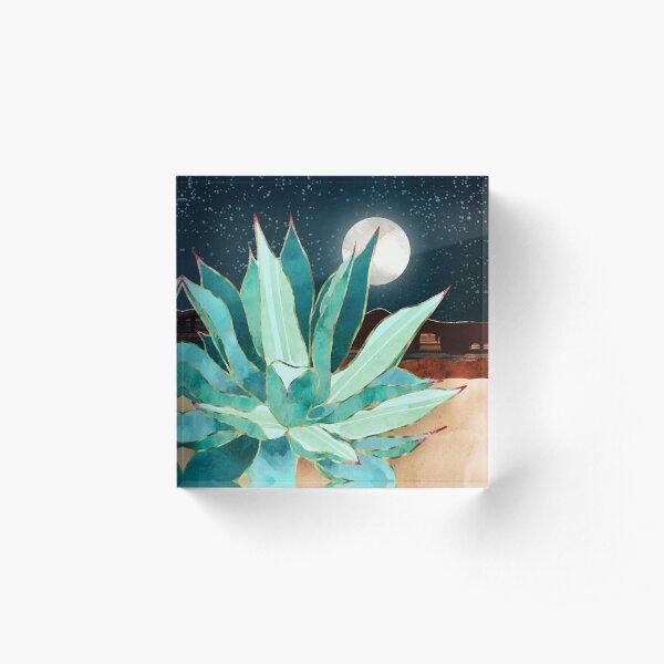 Desert Agave Acrylic Block