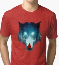 Big Bad Wolf (dark version) Tri-blend T-Shirt