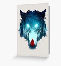 Big Bad Wolf (light version) Greeting Card