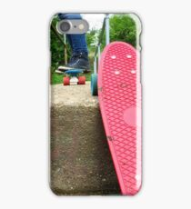 Cruiser boards on a bridge iPhone Case/Skin