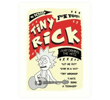 Tiny Rick Concert Poster Art Print