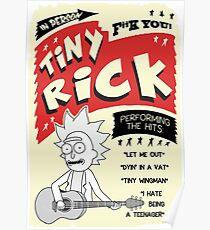 Tiny Rick Concert Poster Poster