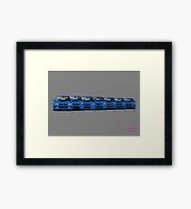 Subaru WRX STi generations - Poster V2 Framed Print