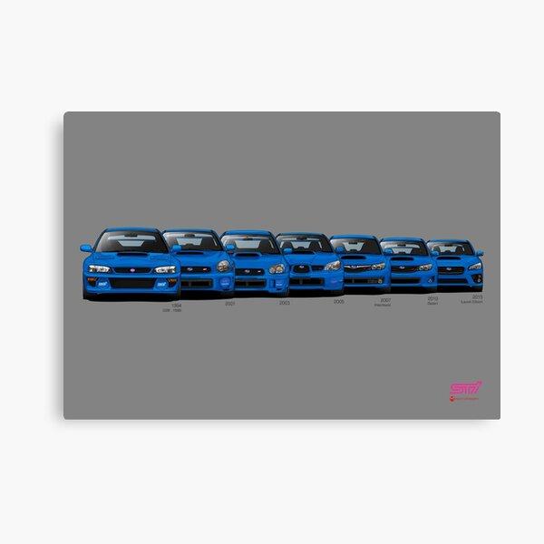 Subaru WRX STi generations - Poster V2 Canvas Print