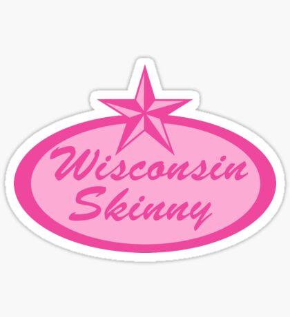 Wisconsin Skinny Logo Pink Sticker