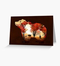 Bears in the Woods Greeting Card