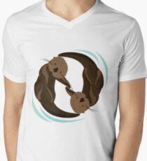 Otter Friends Men's V-Neck T-Shirt