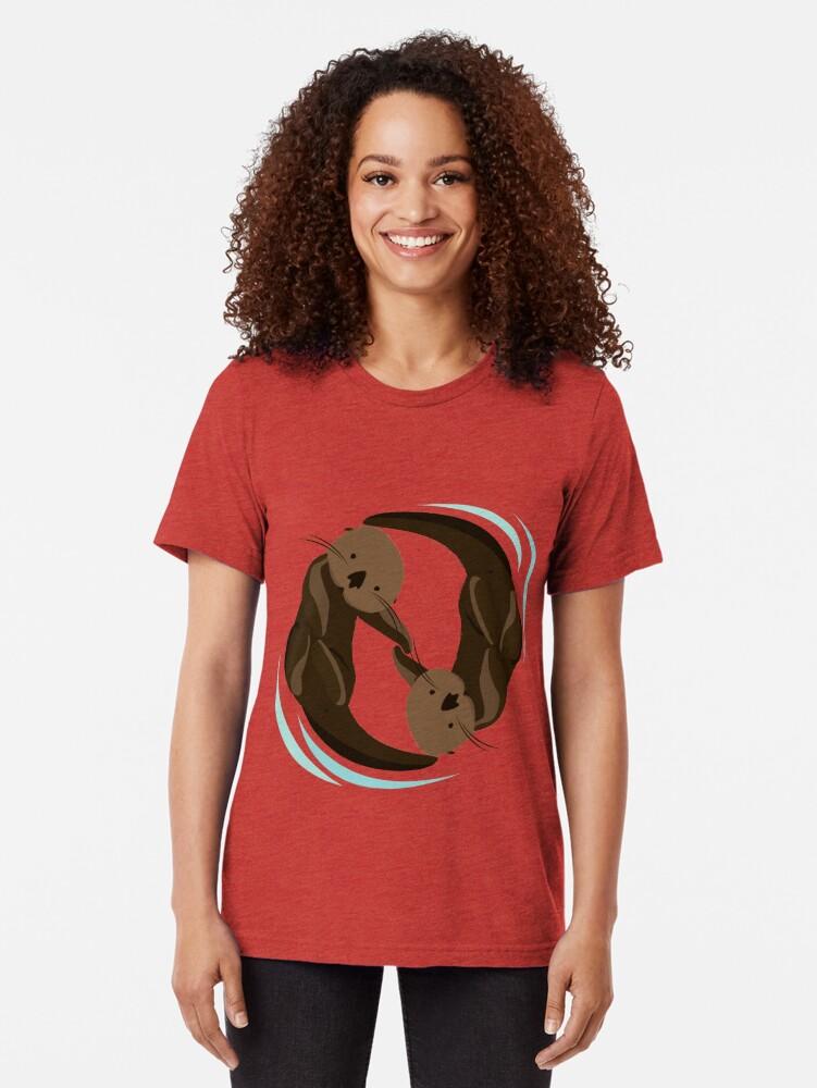 Alternative Ansicht von Otterfreunde Vintage T-Shirt