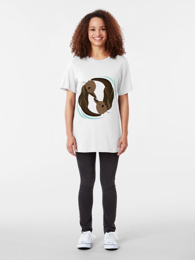 Alternative Ansicht von Otterfreunde Slim Fit T-Shirt
