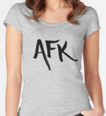 AFK - Black Women's Fitted Scoop T-Shirt