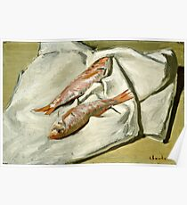 Claude Monet - Red Mullets ( 1870)  Poster
