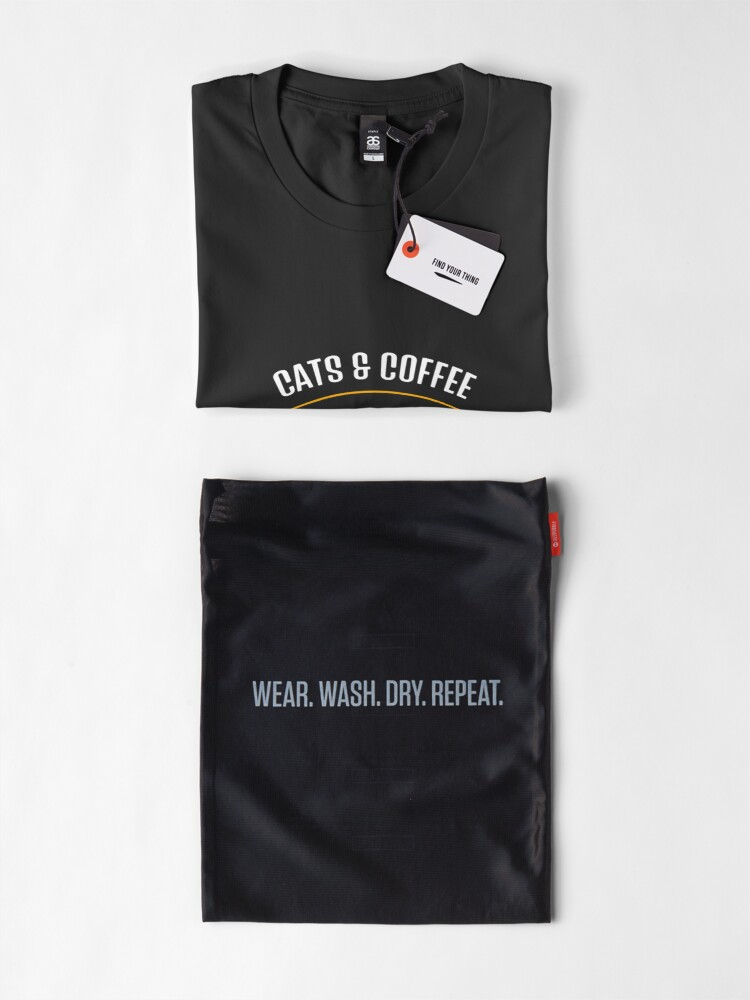 Alternate view of Cats & Coffee Are All I Need Premium T-Shirt