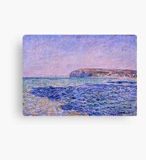 Claude Monet - Shadows on the Sea  The Cliffs at Pourville (1882)  Canvas Print