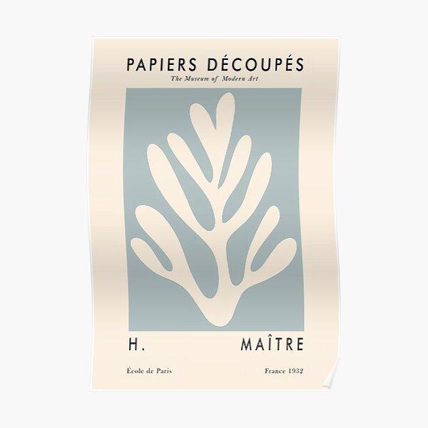 Papiers Decoupes Bue Poster