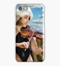 Fiddling In The Field iPhone Case/Skin