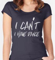 Camiseta entallada de cuello redondo No puedo tener baile