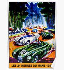 """""""DU MANS GRAND PRIX"""" Vintage Auto Racing Print Poster"""