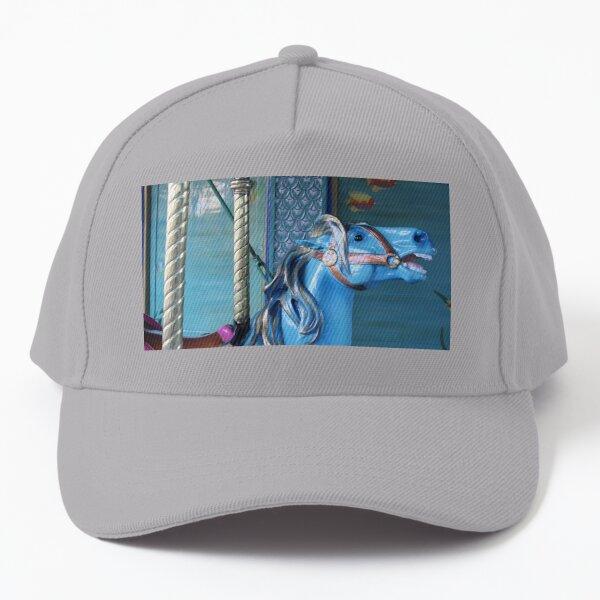 Blue Carousel Horse Baseball Cap