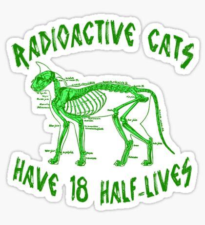 Radioactive Cats Sticker
