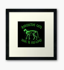 Radioactive Cats Framed Print
