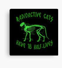 Radioactive Cats Canvas Print
