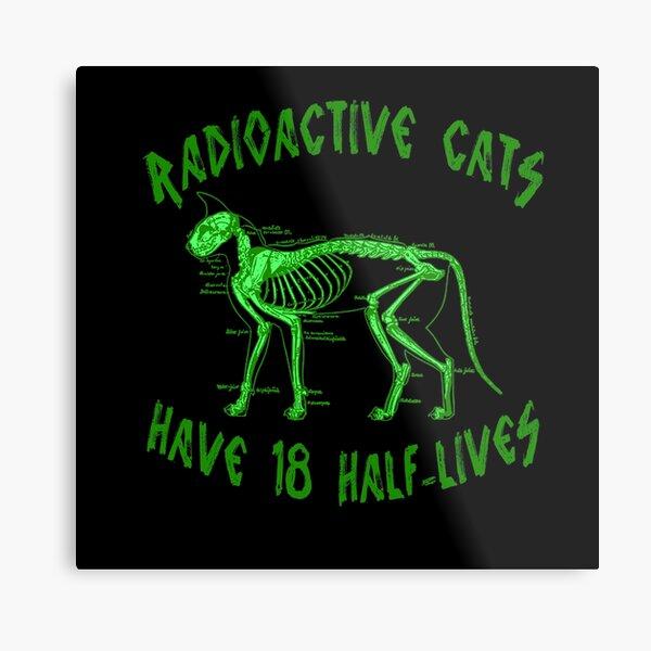 Radioactive Cats Metal Print