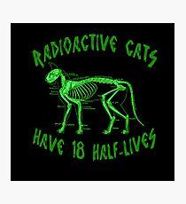 Radioactive Cats Photographic Print