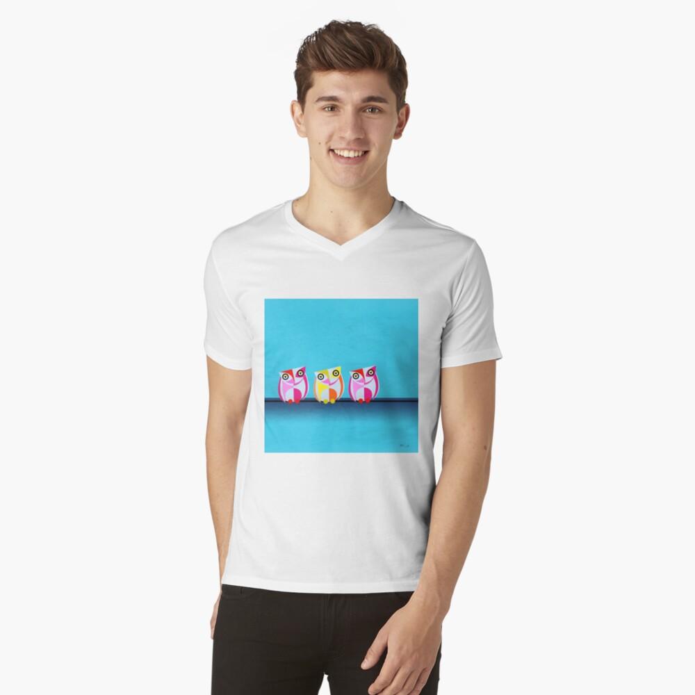 owl Mens V-Neck T-Shirt Front