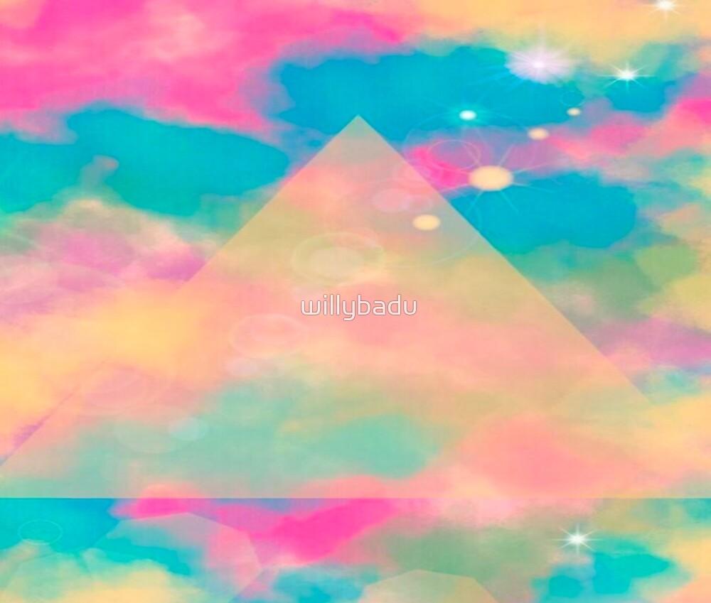 Psychedelic Tie Dye Pyramid Heaven by willybadu