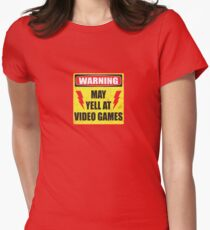 Gamer Warning Womens Fitted T-Shirt