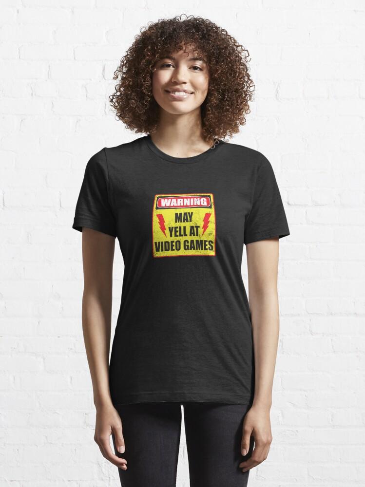 Alternate view of Gamer Warning Essential T-Shirt
