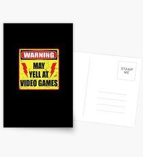 Gamer Warning Postcards