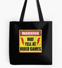 Gamer Warning Tote Bag
