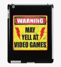 Gamer Warning iPad Case/Skin