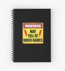 Gamer Warning Spiral Notebook
