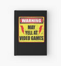 Gamer Warning Hardcover Journal