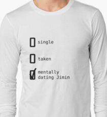 BTS - Mentally Dating Jimin Long Sleeve T-Shirt