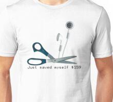 Wireless Apple Airpods: Just Saved Myself $159 Unisex T-Shirt
