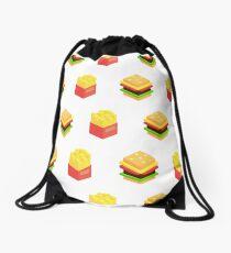 Burger x Fries Drawstring Bag