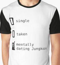 BTS - Mentally Dating Jungkook T-shirt graphique