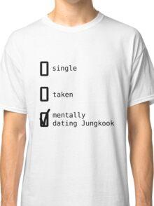 BTS - Mentally Dating Jungkook T-shirt Classique