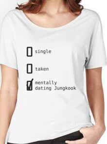 BTS - Mentally Dating Jungkook T-shirt femme coupe relax