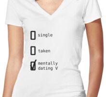 BTS - Mentally Dating V T-shirt femme moulant col V