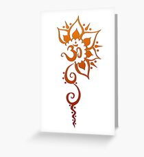 Rising Om - Henna  Greeting Card
