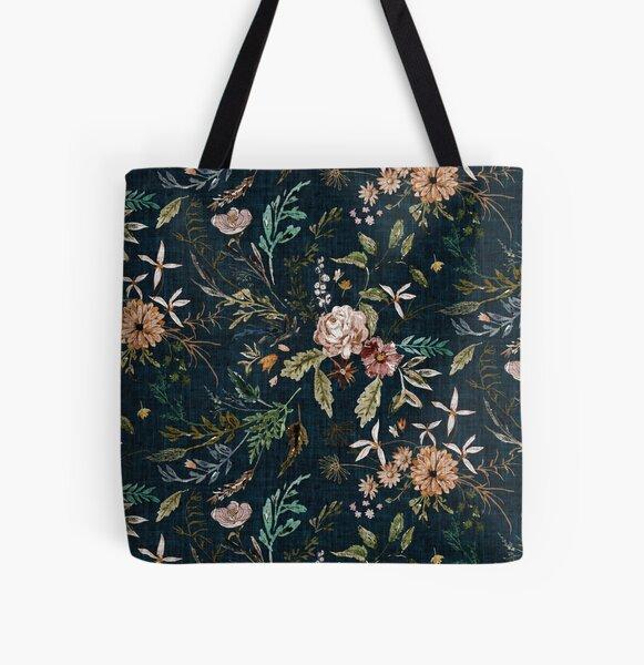 Delilah (summer/teal)  All Over Print Tote Bag