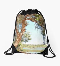 Ocean Lake Retreat Drawstring Bag