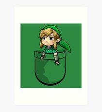 Pocket Link Hero of Time Zelda Art Print