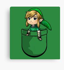 Pocket Link Hero of Time Zelda Canvas Print