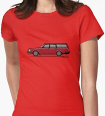 Volvo 245 Brick Wagon 200 Series Red Women's Fitted T-Shirt